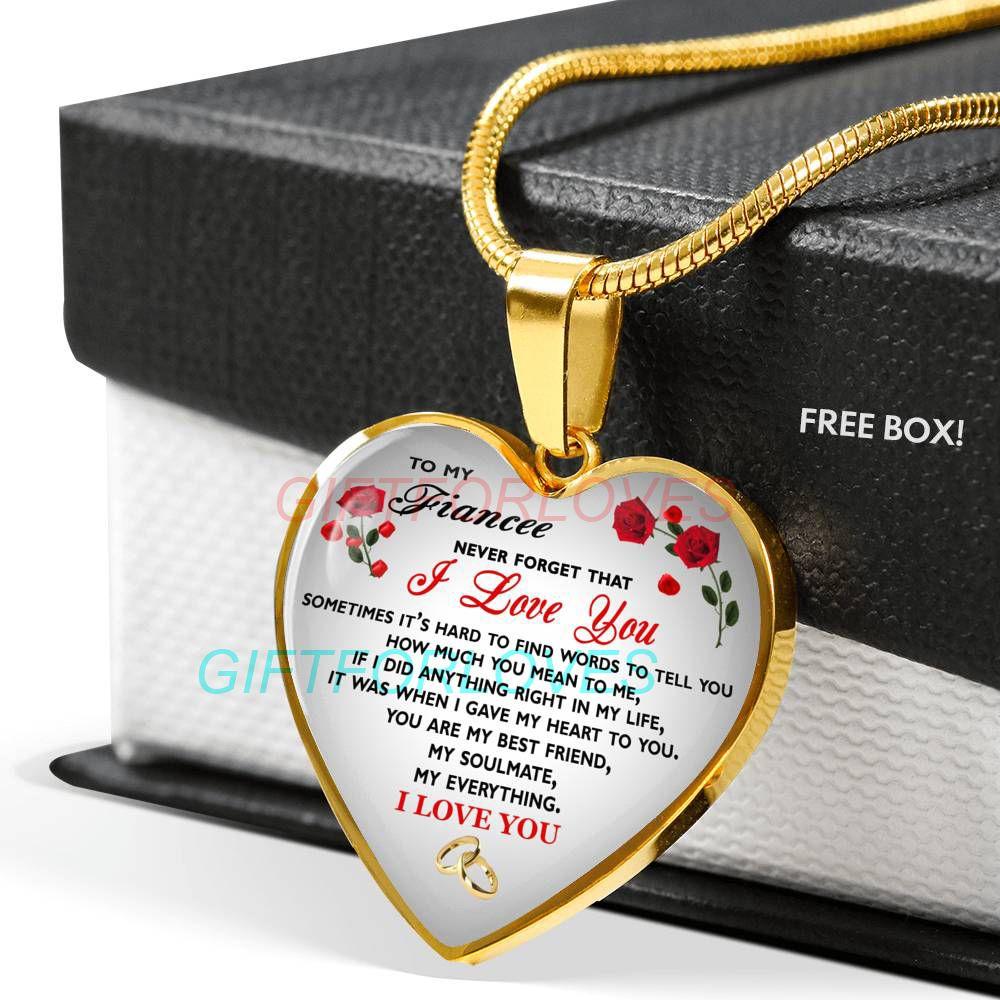 To My Girlfriend Necklace Gift Birthday from Boyfriend Fiance Anniversary Gift Idea 1225fHhn