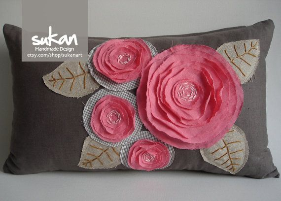 Sukan / Pink Flowers Pillow Cover 12x20 inch by sukanart on Etsy & Sukan / Pink Flowers Pillow Cover 12x20 inch by sukanart on Etsy ... pillowsntoast.com