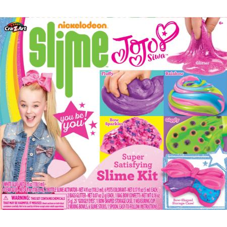 Nickelodeon Jojo Siwa Super Satisfying Slime Kit With Glue Activator Storage Container And Mix Ins Walmart Com Nickelodeon Slime Slime Kit Jojo Siwa