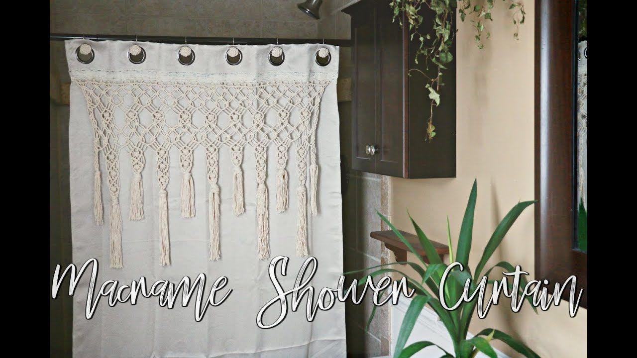 How To Diy Macrame Shower Curtain Macrame Diy Diy Macrame