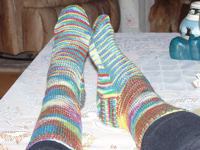 Ravelry Two Needle Socks Pattern By Linda Benne Knitted Socks And