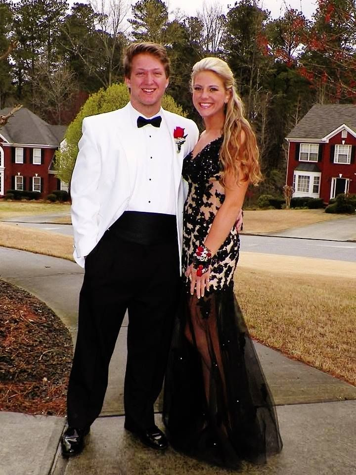 Gorgeous Stephanie S. and her handsome date... You look STUNNING! Thanks for sharing!