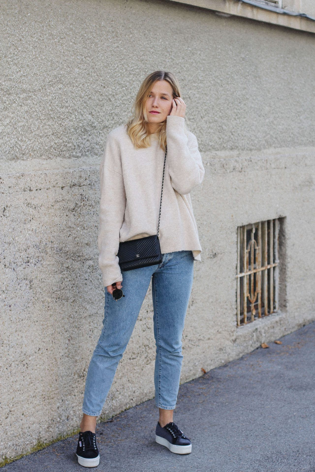 modern style terrific value matching in colour tifmys – Sweater: Zara | Jeans: H&M | Sneakers: Superga ...
