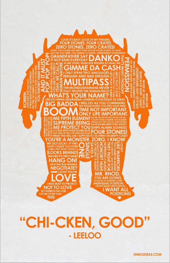The Fifth Element - typographic movie poster