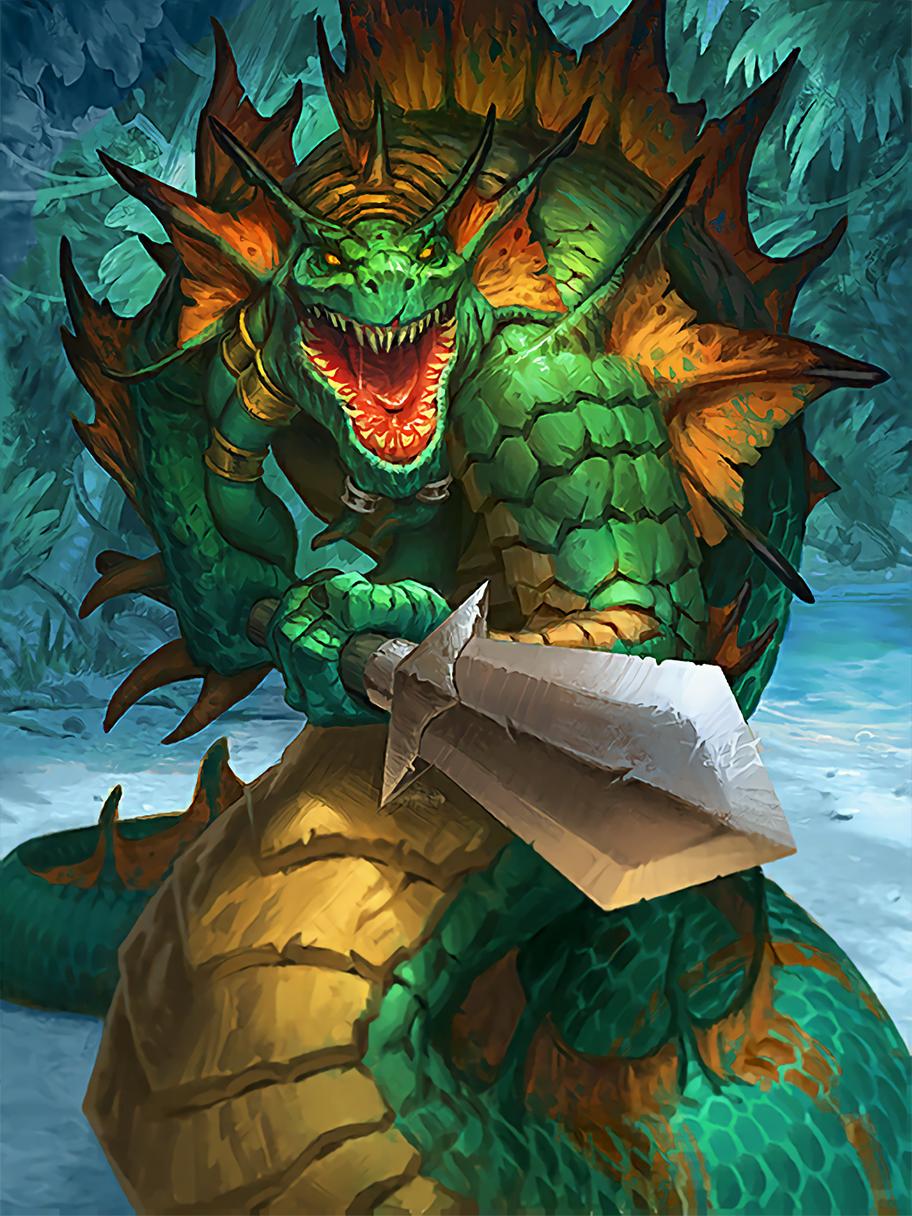 Card Name Hangry Naga Artist Blizzard Entertainment Warcraft Art World Of Warcraft Fantasy Monster