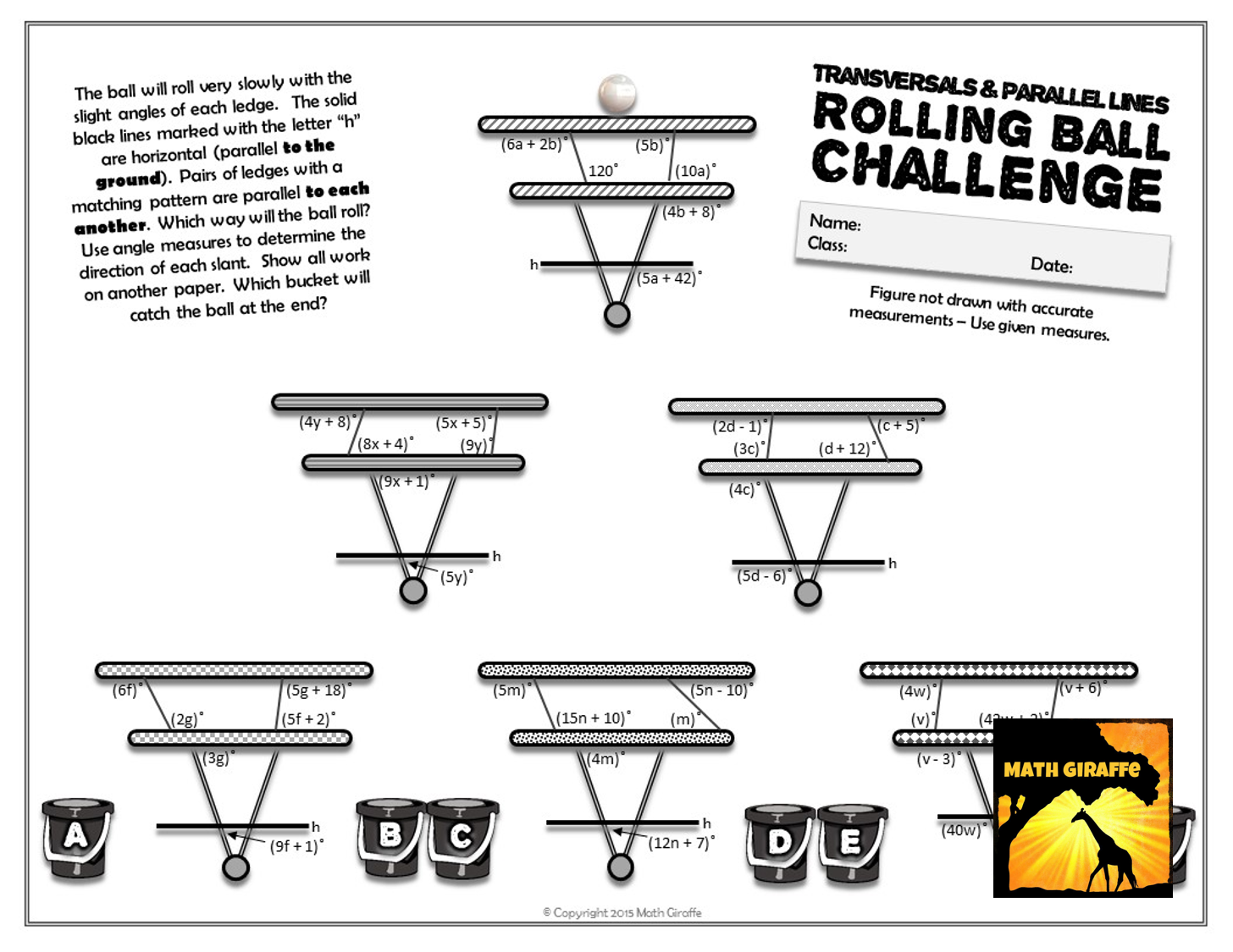 Transversals Amp Parallel Lines Rolling Ball Challenge