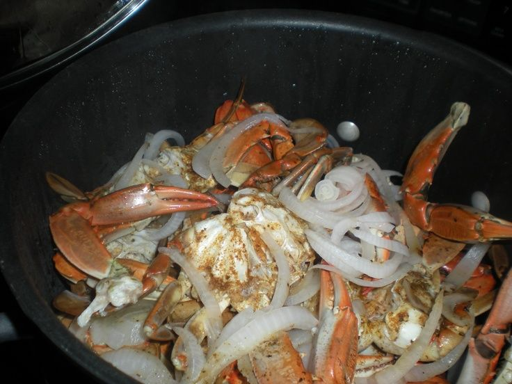 maryland steamed crabs | steamed Chesapeake Bay Blue Crabs with butter, onions, vinegar, & Old ...