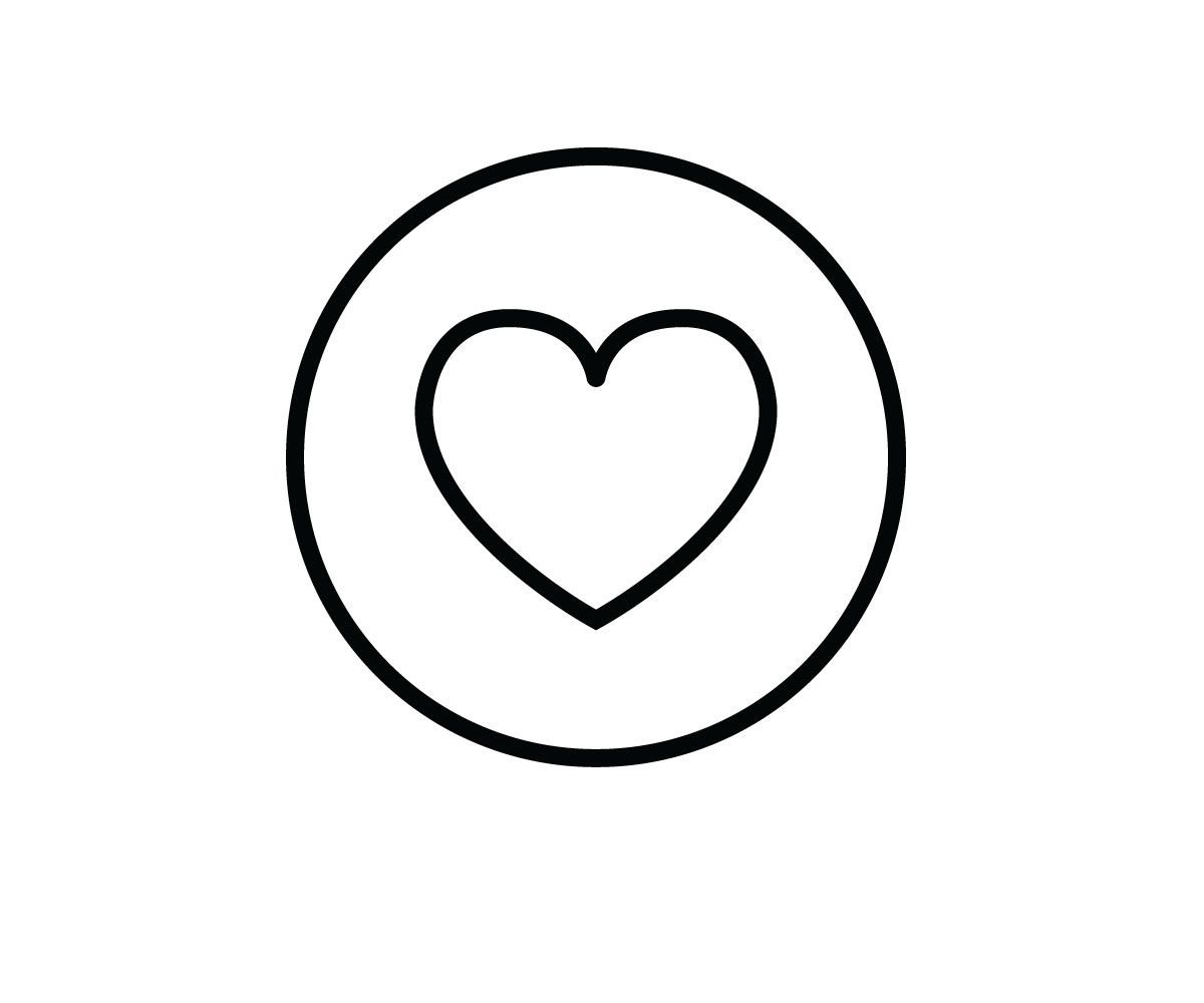 Facebook Heart Icon Vector Black Outline Png Jpg Svg Heart Icons Custom Icons Icon