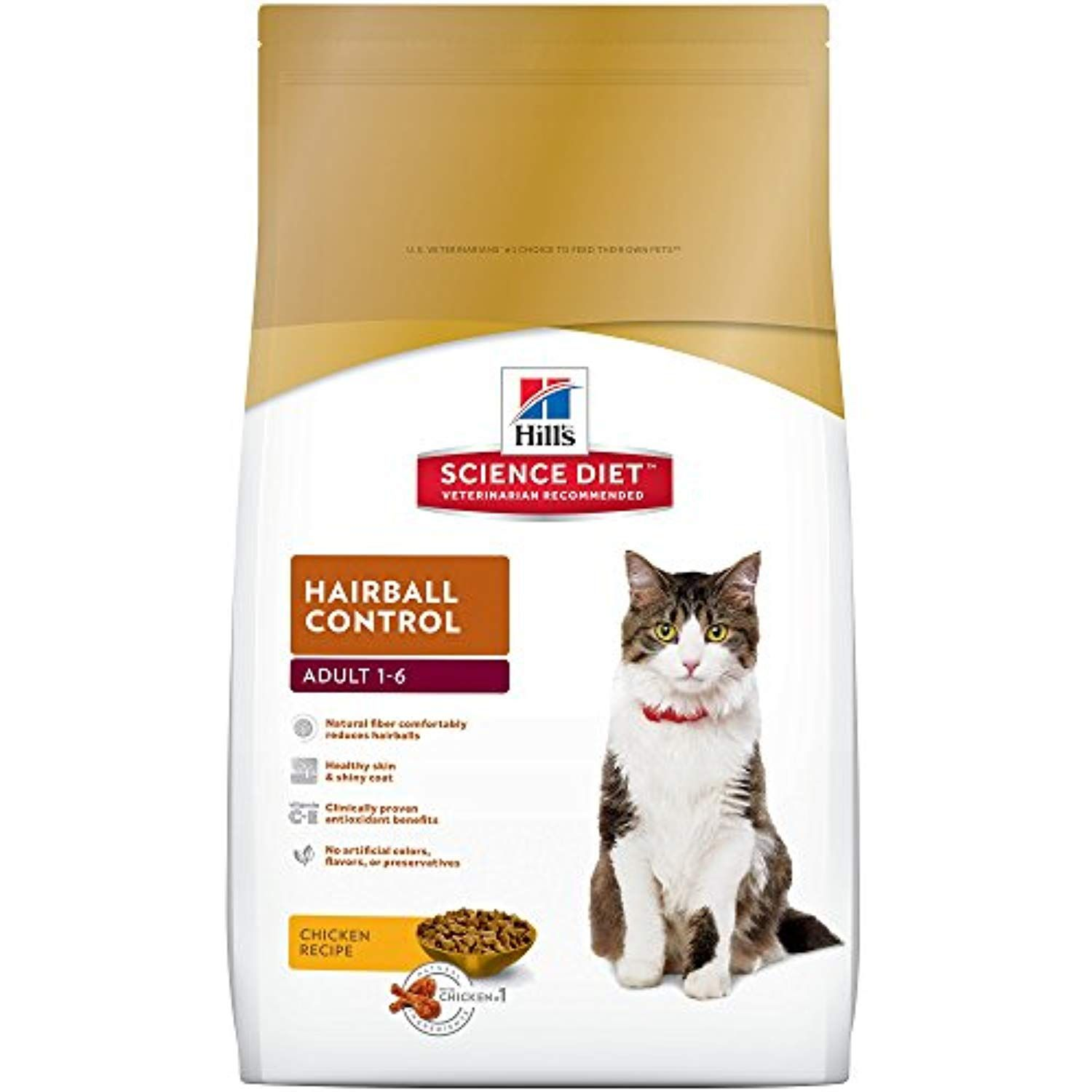 Hills science diet adult hairball control cat food