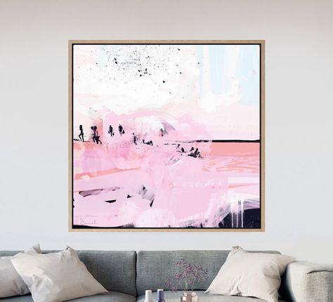 Square Art, Printable Abstract Art, Beach Art, Living Room Art ...