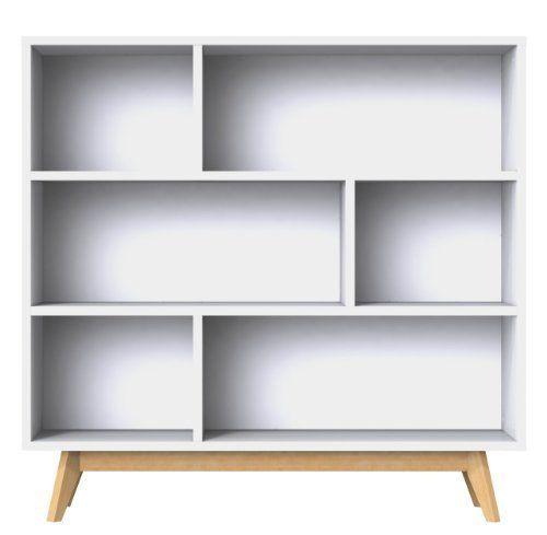 Tenzo 2170-001 Bess - Designer Regal, weiß, lackiert, matt - wohnzimmer eiche massiv modern