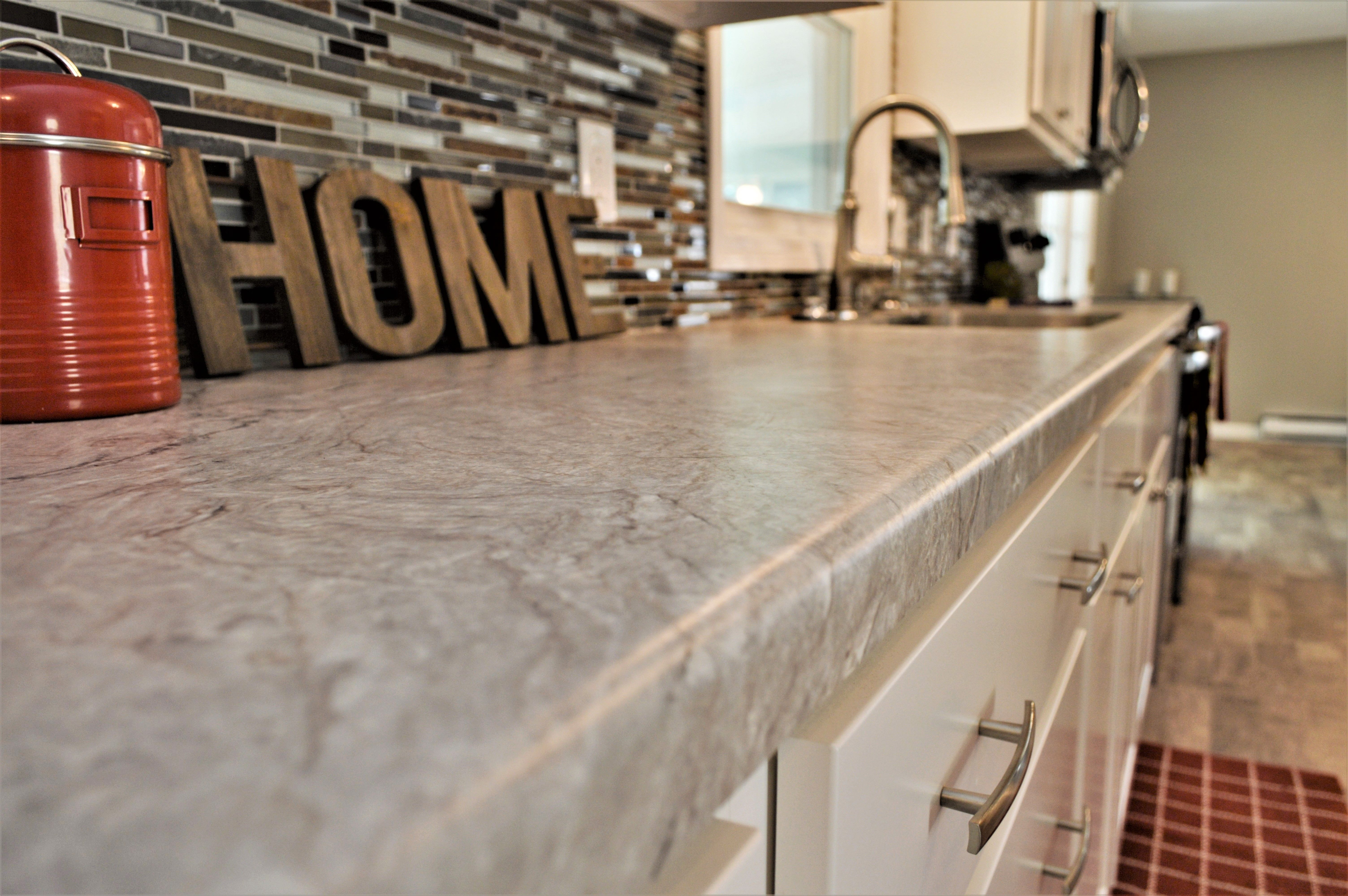Laminate Countertop Modern Edge Detail Silver Quartzite Color Laminate Countertops Countertops Laminate