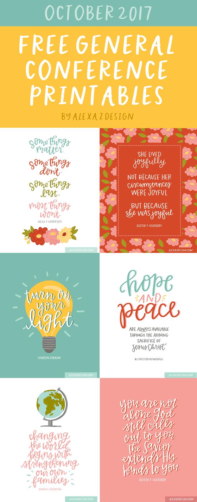 Free General Conference Printables - October 2018 - He and ...