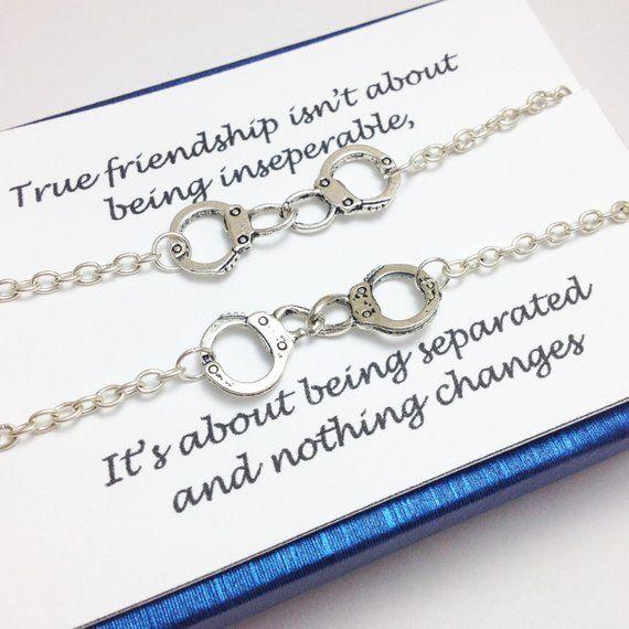fa915ab16 partner in crime bracelet - bff bracelet - friendship bracelet - silver handcuff  bracelet - girlfrie