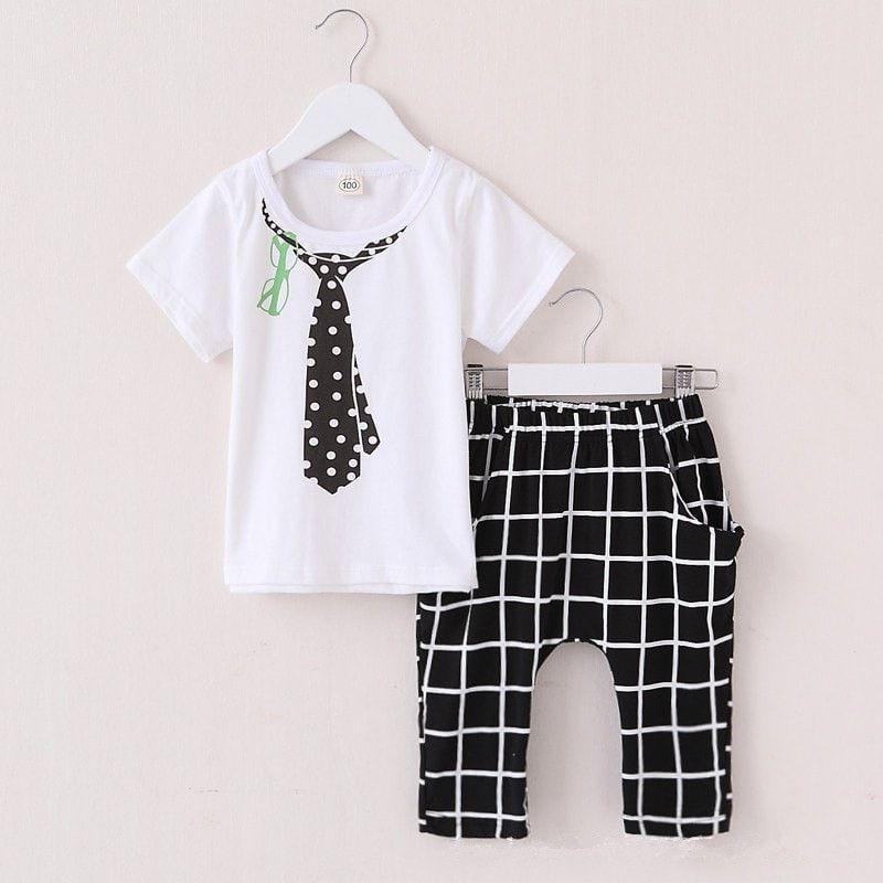 Cartoon Casual Cotton Toddler Clothing Set