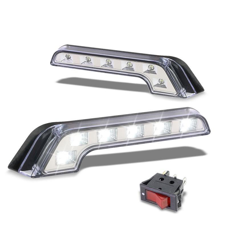 Universal Dc 12v L Shape Clear Len Chrome Housing Fog Light Toggle Switch Wiring L Shape Model Homes Chrome