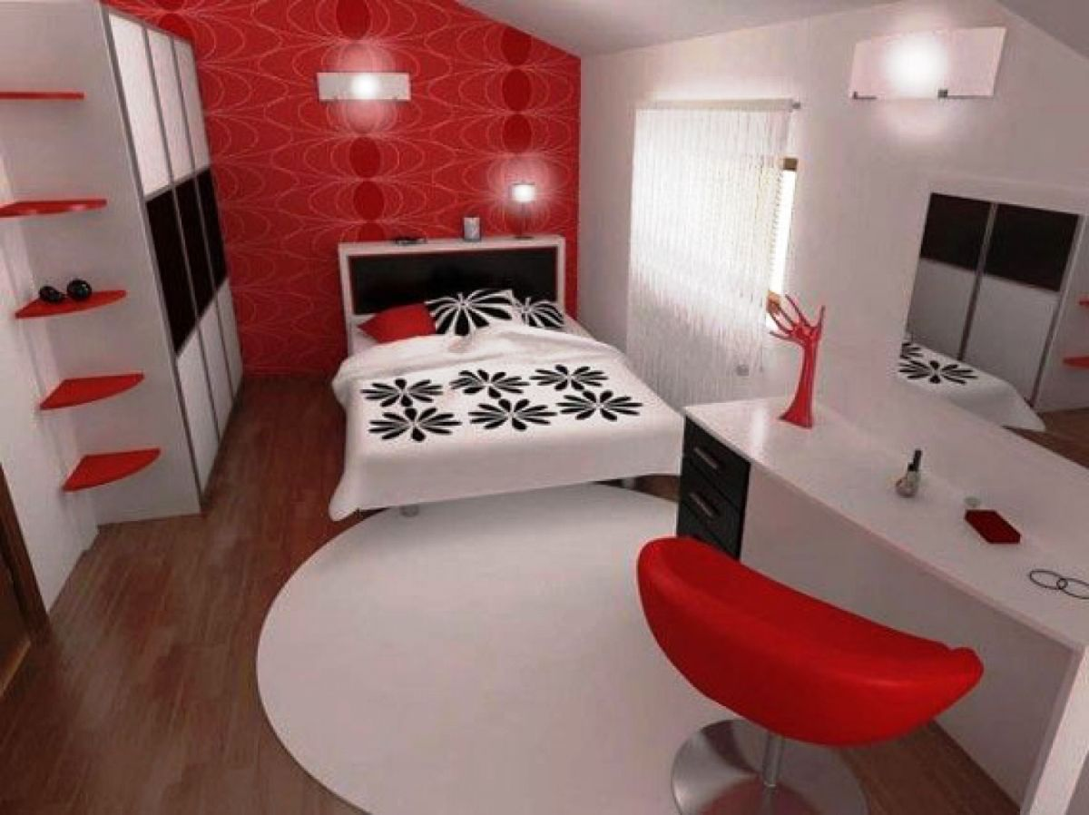 Modern black and red bedroom - Bedroom Design Red Bedroom Sets White Carpet Red Chairs Looking Glass Smal Bedroom Idea Inspiring Modern Bedroom In Red Black And White B