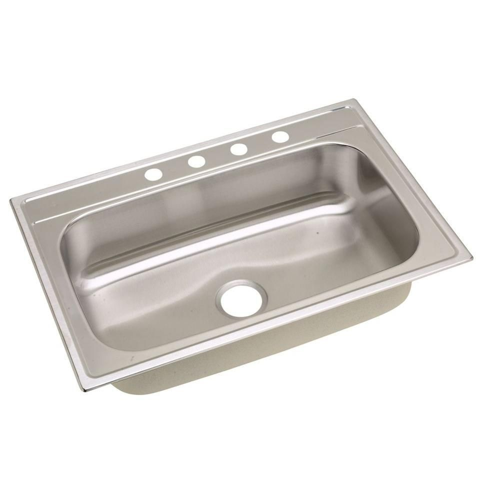 Ebay Sinks Kitchen New elkay signature top mount stainless 33 single bowl kitchen sink elkay signature top mount stainless steel 33 in single bowl kitchen the home depot kitchen sinks workwithnaturefo