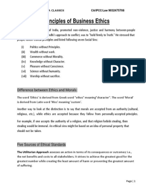 Busines Ethic Full Note Pdf Financial Service Finance Lease Essay On Ethics