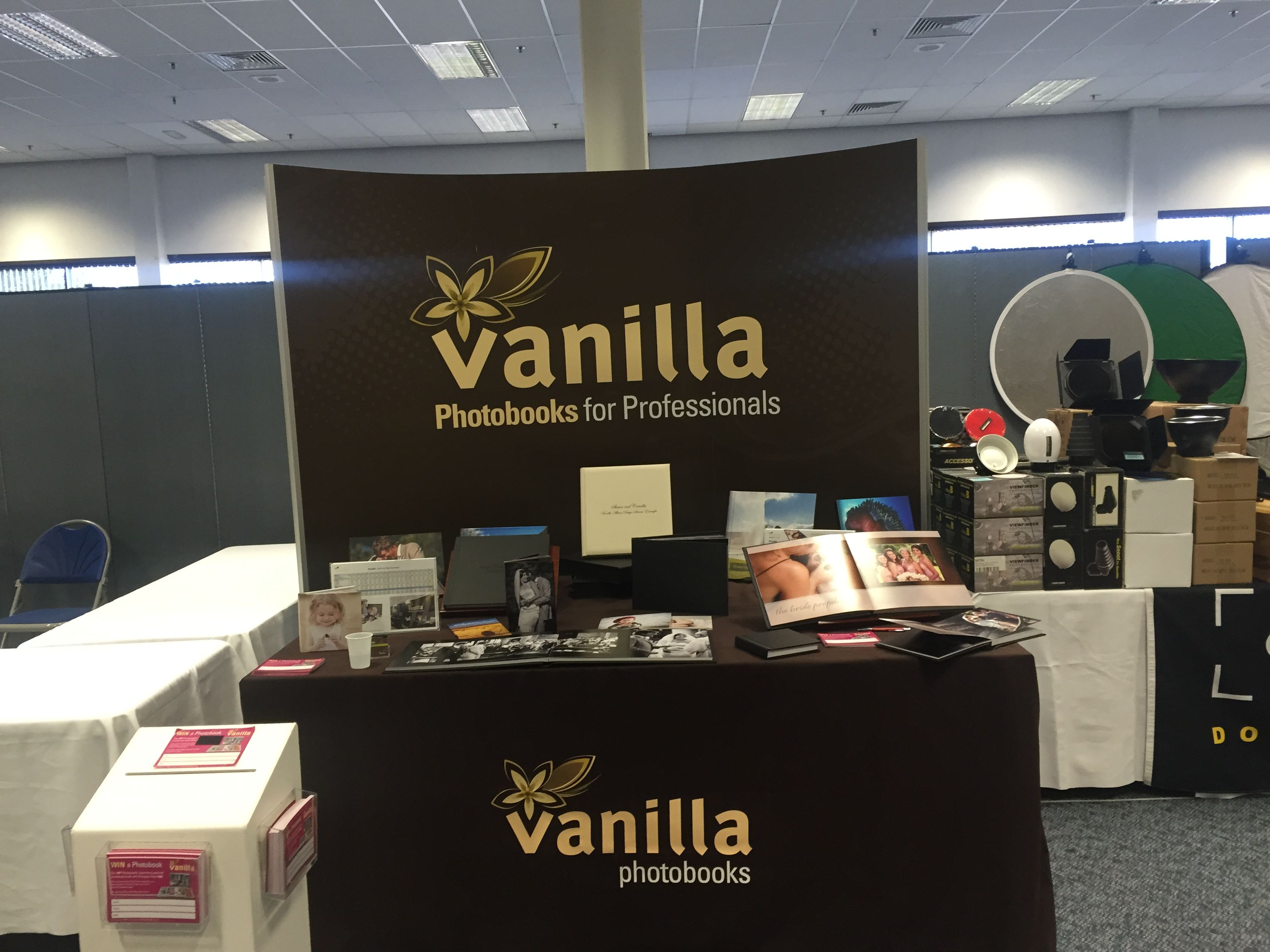 the vanilla photobooks stand looking fantastic at photovision