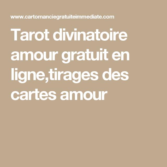 tarot divinatoire gratuit amour en ligne