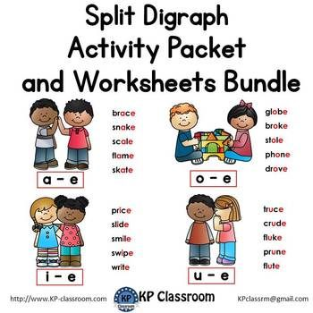 This Split Digraphs Activity Packet And Worksheets Bundle Is A Fun Packet Of No Prep Phonics Activities For Digraphs Activities Phonics Activities Phonics