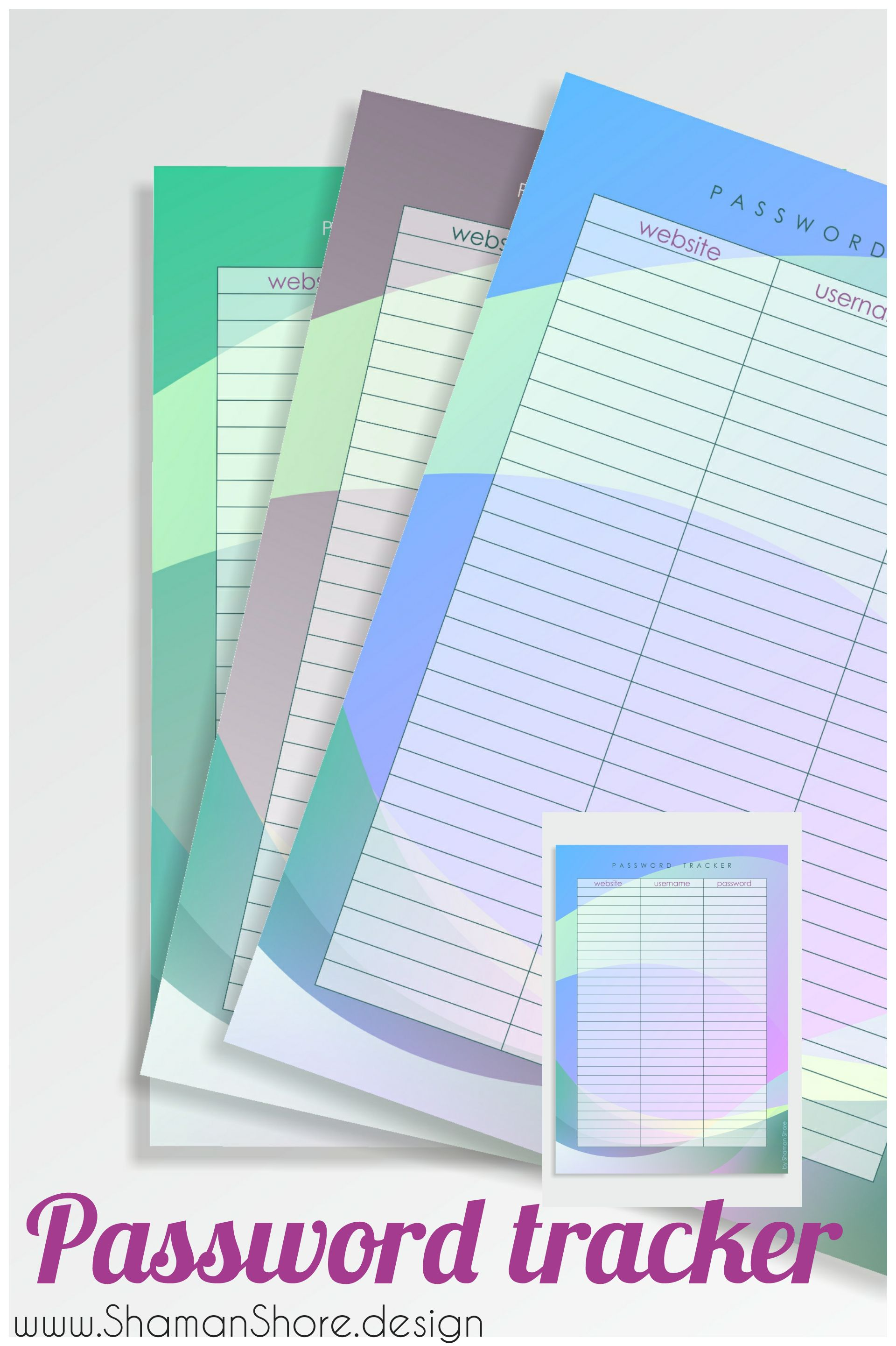 Password Book Printable Password Tracker Pdf A Password Log