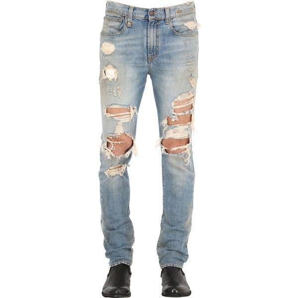 16cm Stretch Denim SKATE Jeans Spring/summer R13 Fake TbUiLSwGVv
