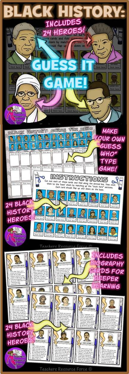 Black History Month: Guess The Hero Game | Tutoring-Holidays ...