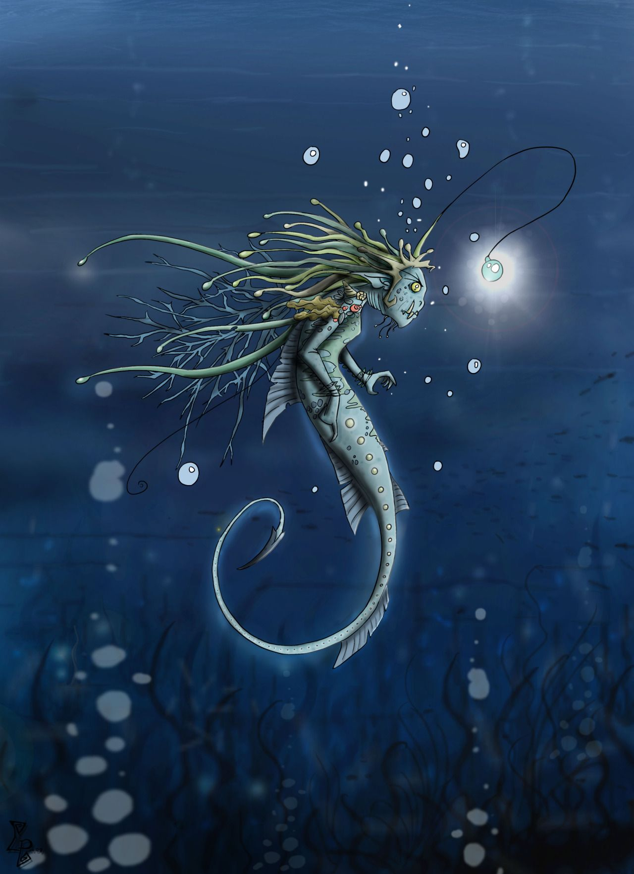 The Art Of Animation, Clv. Angler Fish Mermaid ...