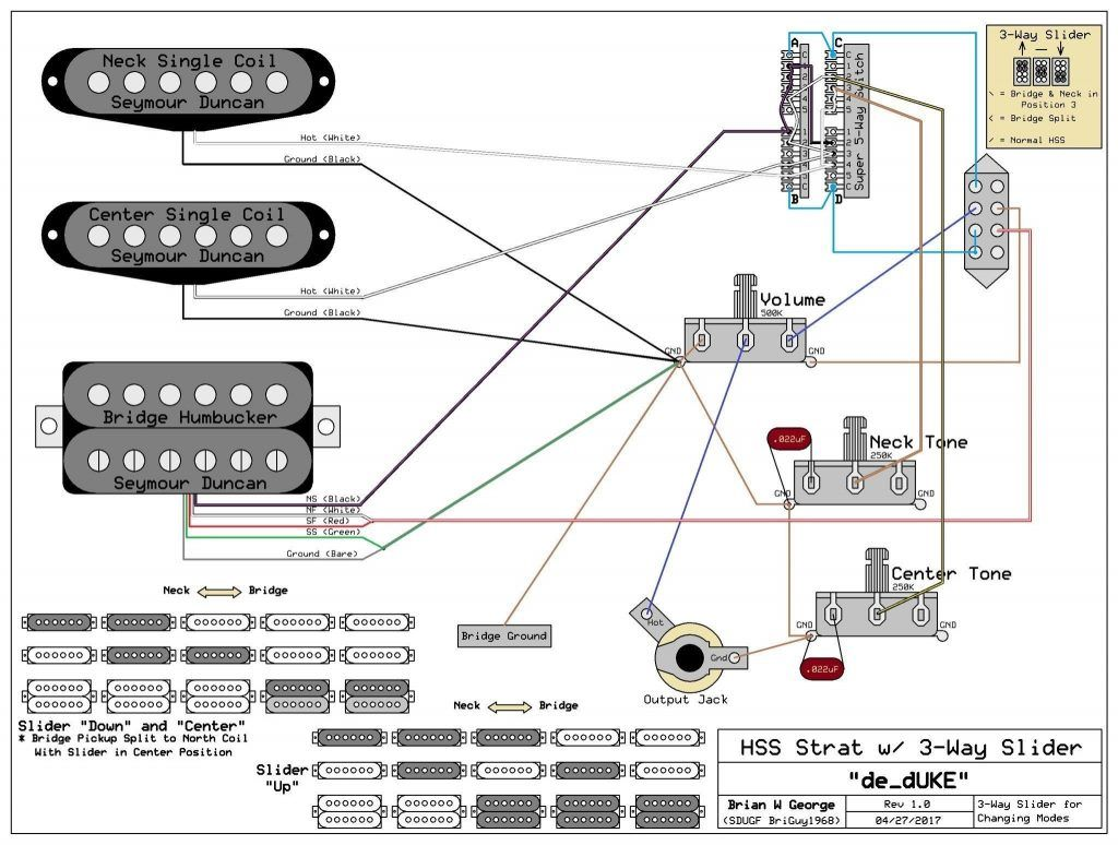 Wiring Diagram Fender Strat 5 Way Switch New Hsh Wiring