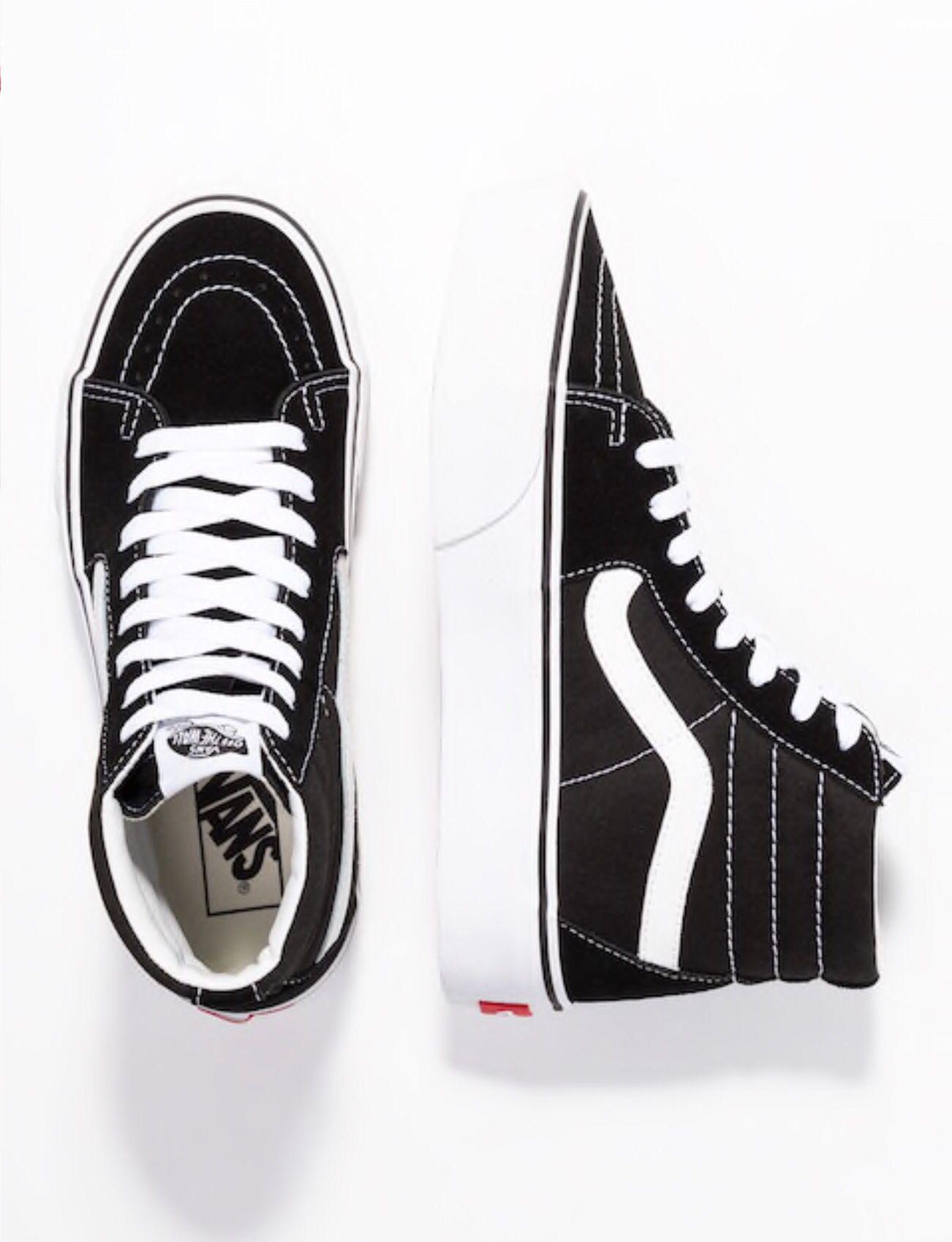 Vans SK8 PLATFORM 2.0 - Zapatillas altas - black/true white ...