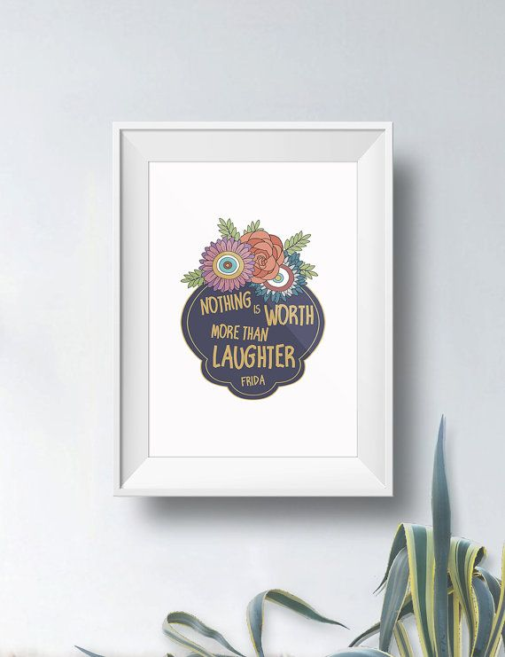 Frida Kahlo Quote | Flower-frame | Art print, poster | Wall decor ...