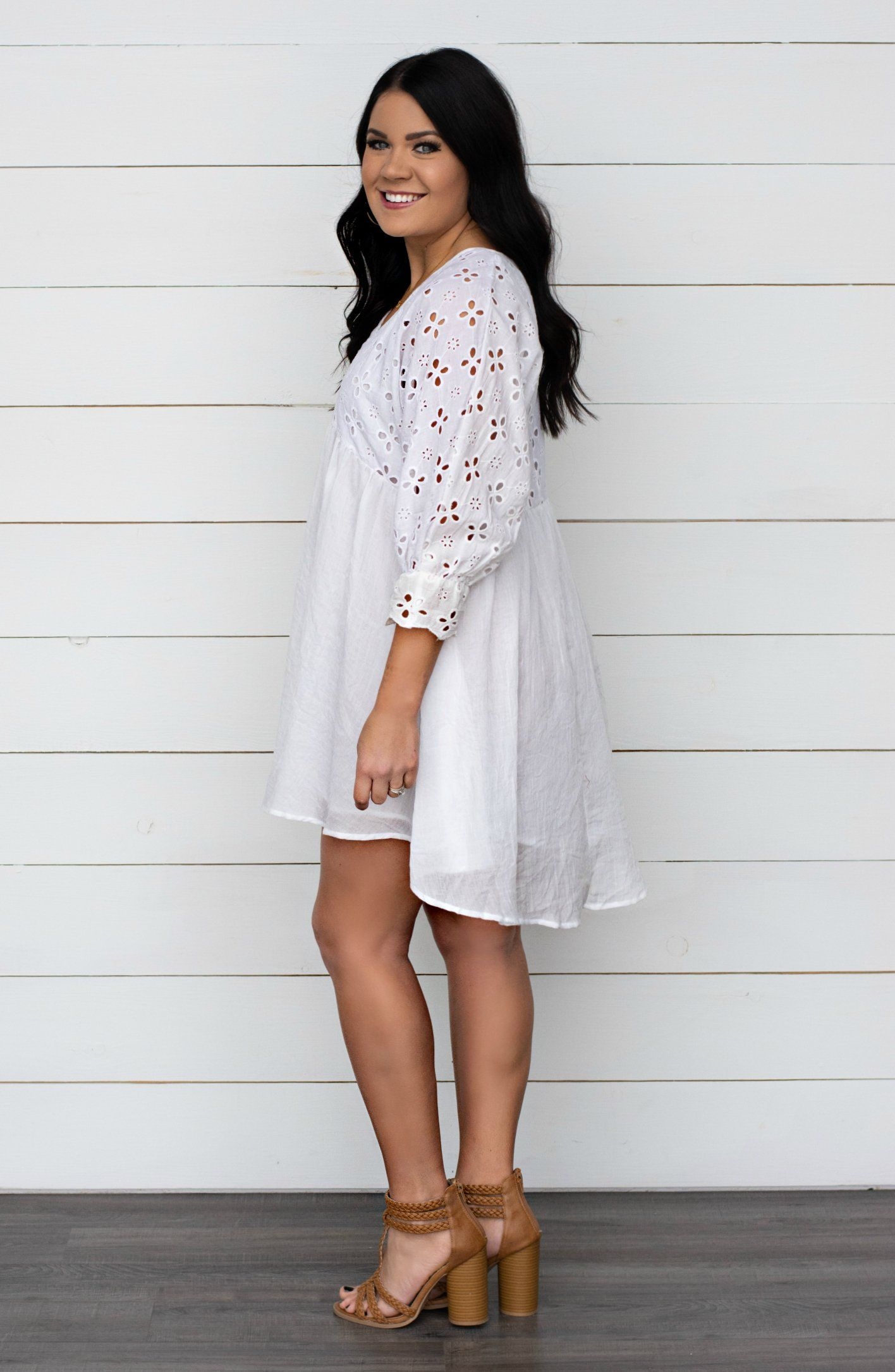 7c77bad17ce Key To My Heart Puff Sleeve Babydoll Dress - 2 Colors in 2019 ...
