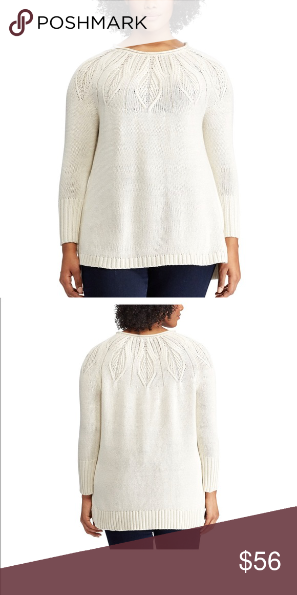 be0bbcd790a Plus Size CHAPS Cable Knit Crewneck Sweater A tonal cable-knit pattern  covering the top half of this Chaps sweater gives it an elegant look that s  perfect ...