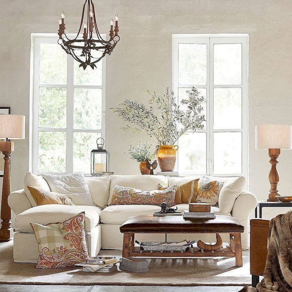 38 Ideas For Living Room: Stunning Rustic Farmhouse Living Room Design Ideas (38
