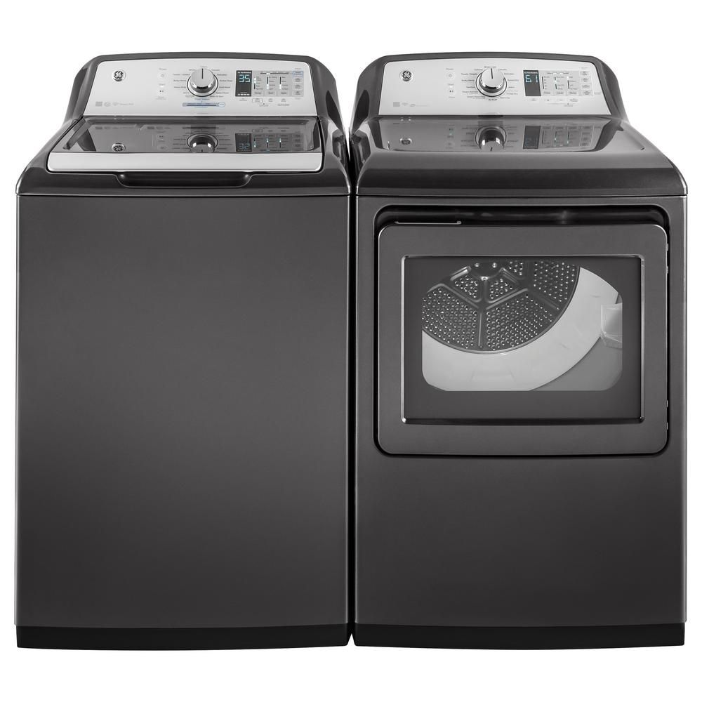Ge 7 4 Cu Ft 240 Volt Diamond Gray Electric Vented Dryer With