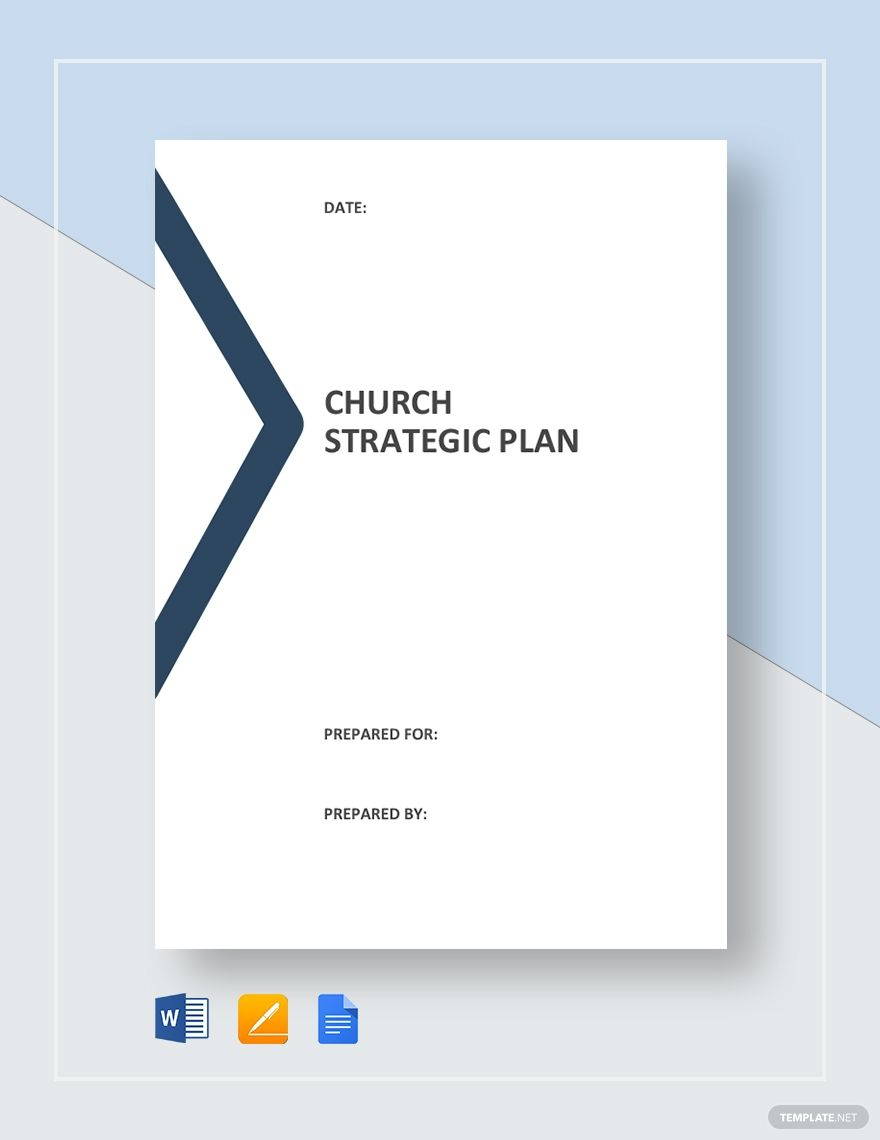 Church Strategic Plan Template Free Pdf Word Apple Pages Google Docs Strategic Planning Template Communication Plan Template Business Plan Template Word
