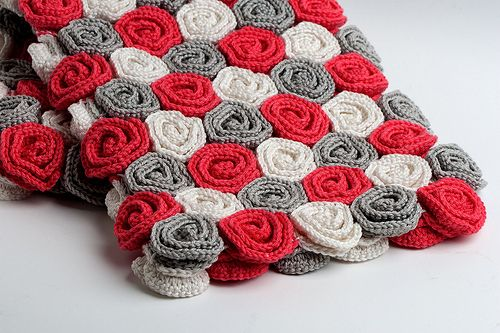 Roses Baby Blanket I would use different colors, but I like it. Für ...