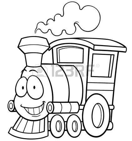 tren caricatura: Ilustración vectorial de tren de dibujos animados ...