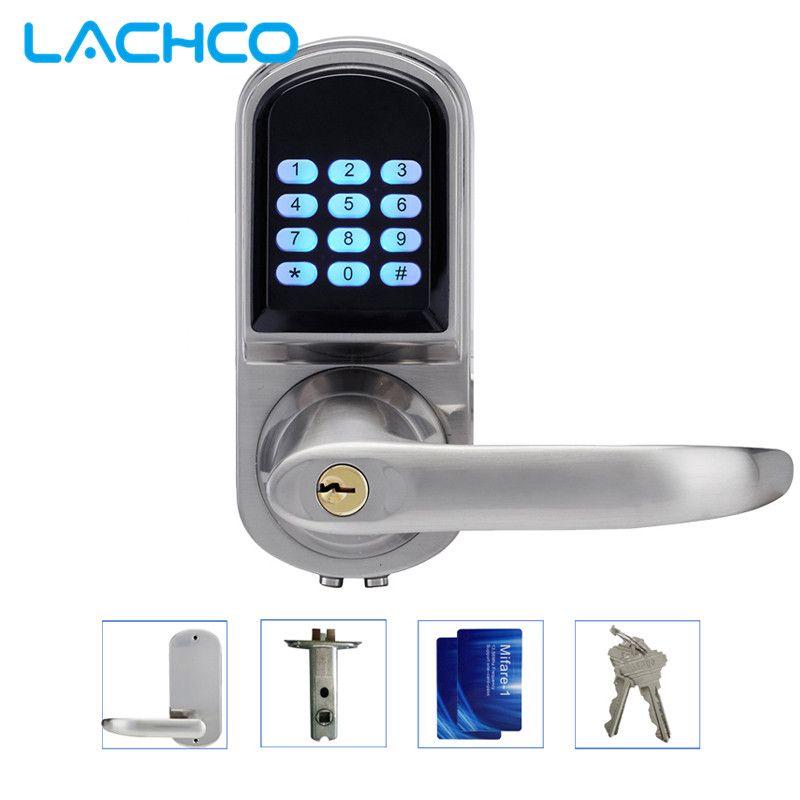 lachco electronic door lock password 2 cards 2 keys smart