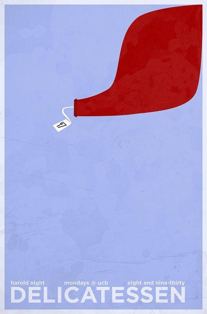 Harold Team Minimalist Posters - Delicatessen by Clay Larsen, via Flickr