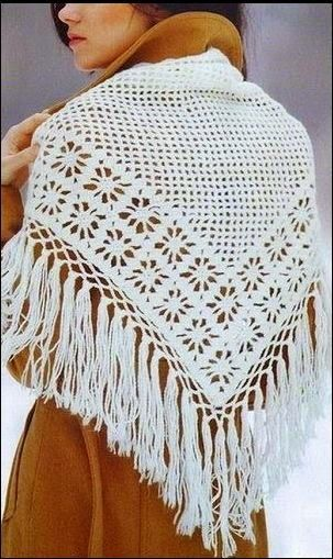 Patrón shawl ganchillo