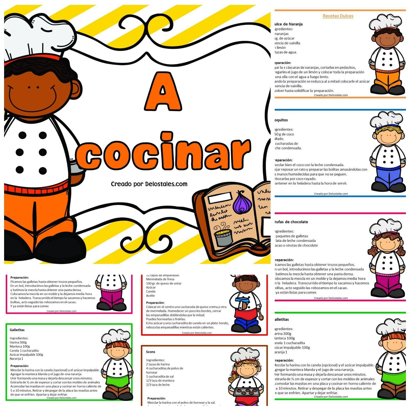 A Cocinar De Los Tales Cocina Para Niños Taller De Instructivos Para Niños Texto Instructivo Para Niños