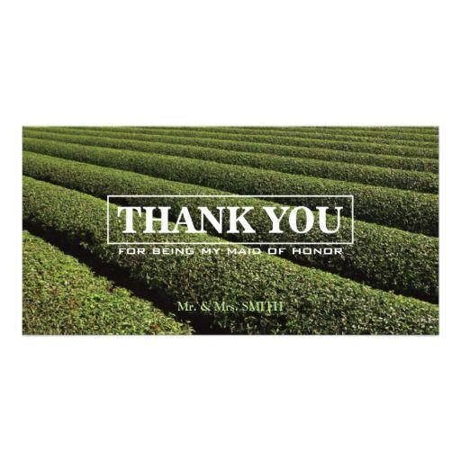 Stylish Tea Plantation Bridesmaid Thank You Card