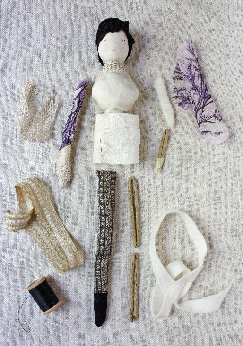 improvisational doll making - part 2 #dollmaking