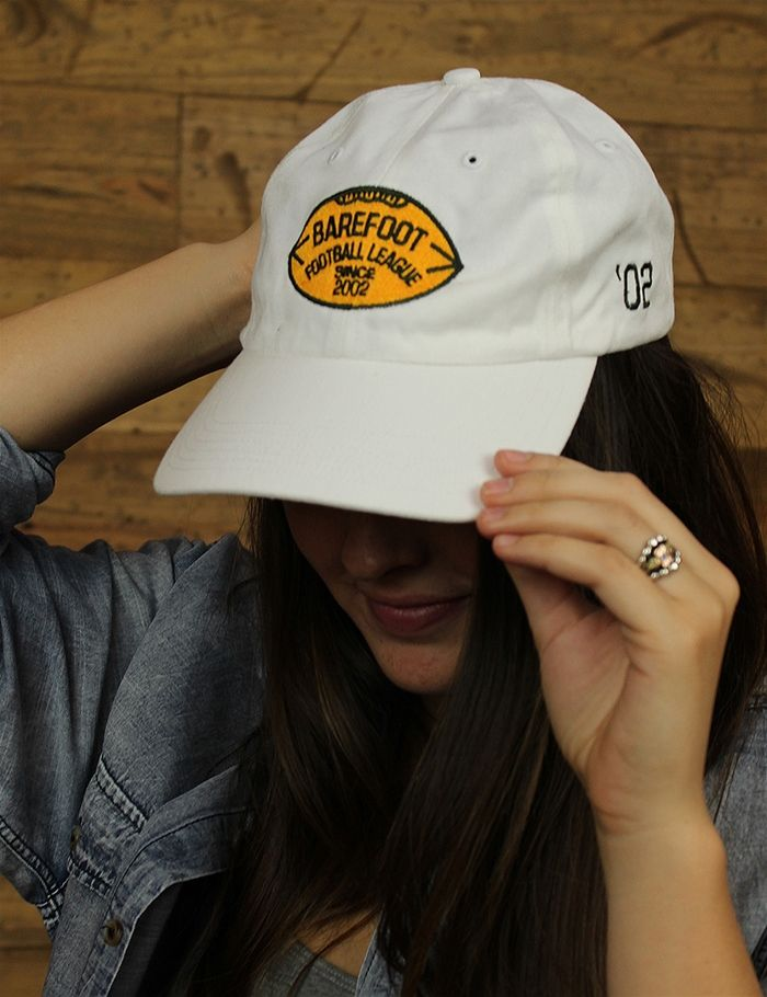 Barefoot loves football so what better way to show that than putting it on a hat Also available in many other colors
