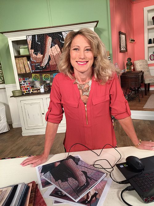 Heidi Proffety On The Set Of Quilting Arts Tv Series 2100 Qatv