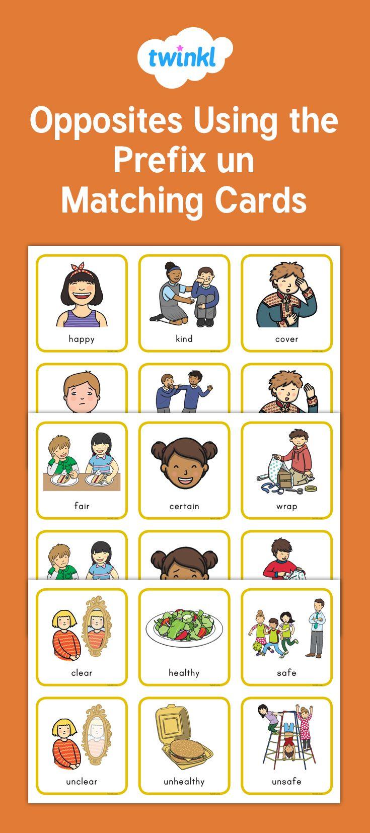 Opposites Using The Prefix Un Matching Cards Prefix Un Prefixes Teaching Prefixes [ 1654 x 735 Pixel ]