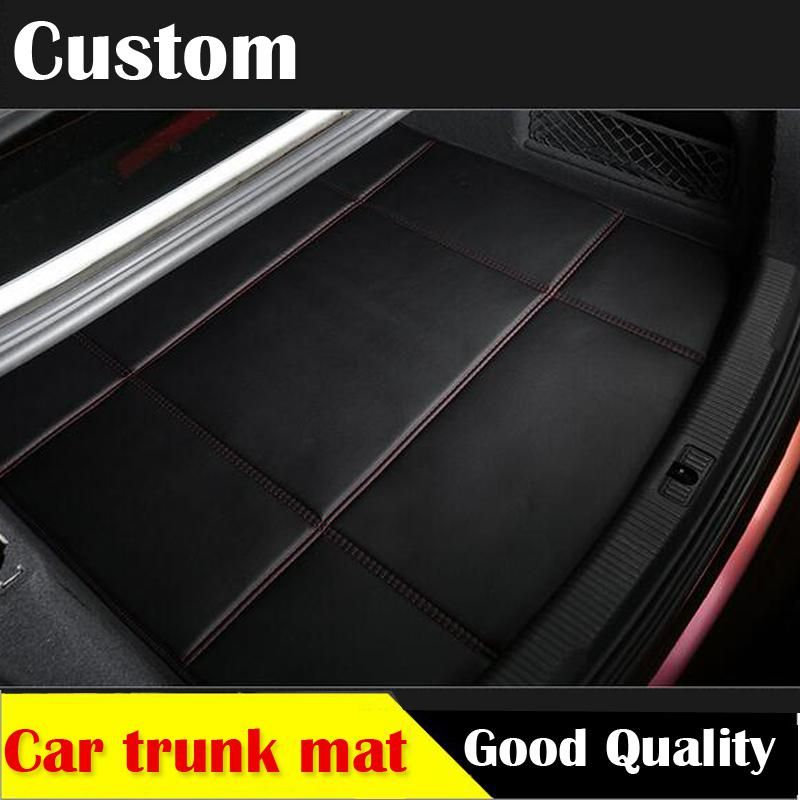 Car Trunk Leather Mat For Toyota Camry Corolla Rav4 Prius Prado Highlander Zelas Verso Leather 3d Carstyling Carpet Cargo Liner Fit Car Toyota Camry Leather Trunk